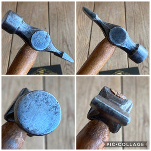 Vintage STANLEY Warrington Cross Peen HAMMER T5115
