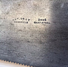 Load image into Gallery viewer, PREMIUM Quality SHARP! Antique G&T GRAY RULER SAW Handsaw