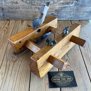 Antique FRENCH Boxwood PLOUGH Plane Y1896