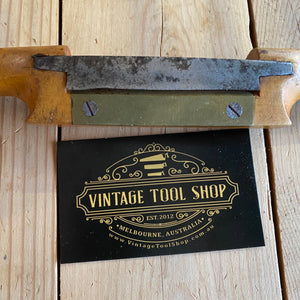 Antique vintage Boxwood spokeshave spoke shave wood timber shaving hand tool steel blade chair spoon making old tool