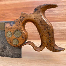 Load image into Gallery viewer, Premium Quality SHARP! Scarce RICHARD GROVES & SONS triple medallion TENON SAW S234