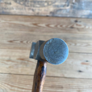 Vintage Metalwork Planishing HAMMER square and round face wooden handle