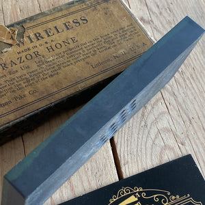 Vintage PIKE Wireless BARBER Hone sharpening stone A28