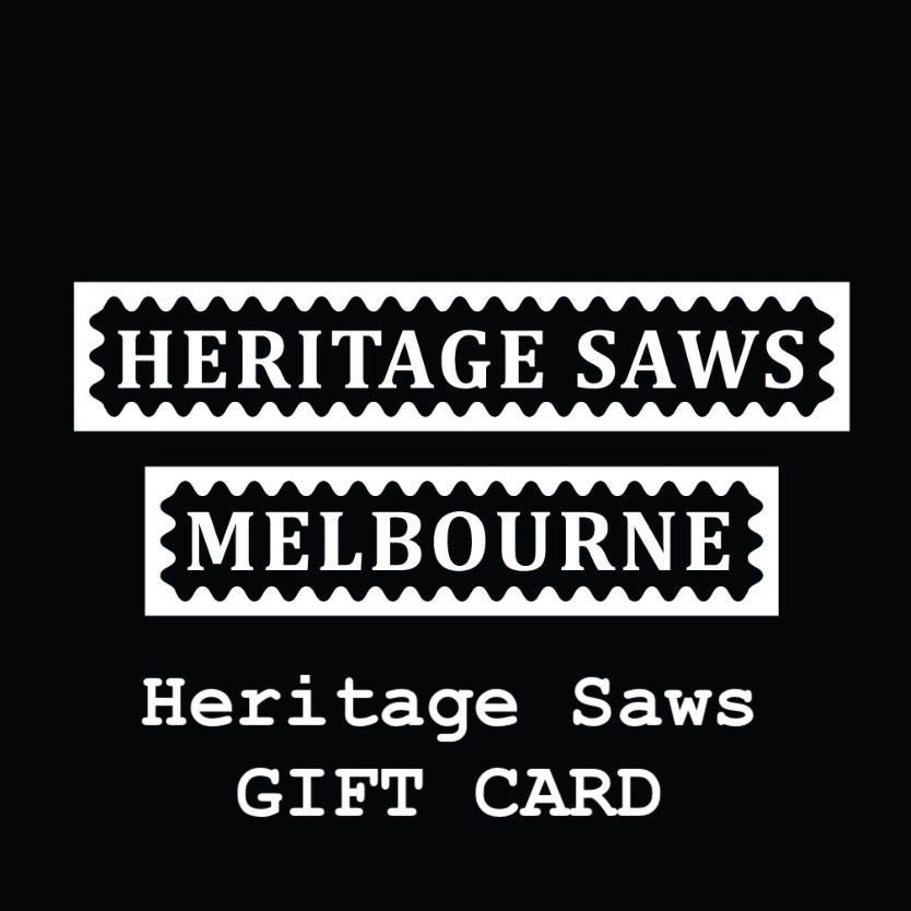Heritage Saws GIFT CARD