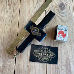 Antique Fancy EBONY BRASS Mortise GAUGE T6795