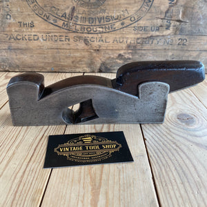 Antique HENRY SLATER England Mahogany Cast Iron INFILL PLANE T3569