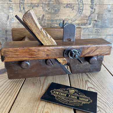 Antique Red Oak FRENCH PLOUGH Plane Y1864