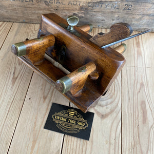 Antique wooden PLOUGH PLANE a No:5B MATHIESON, Scotland with 8x irons T1308