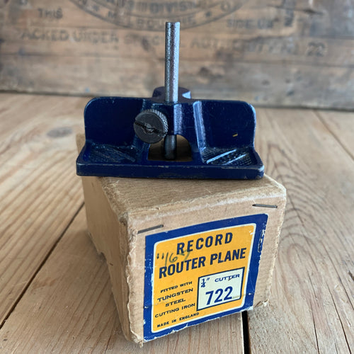 English RECORD ROUTER PLANE No.722 in original box Tungsten steel blade