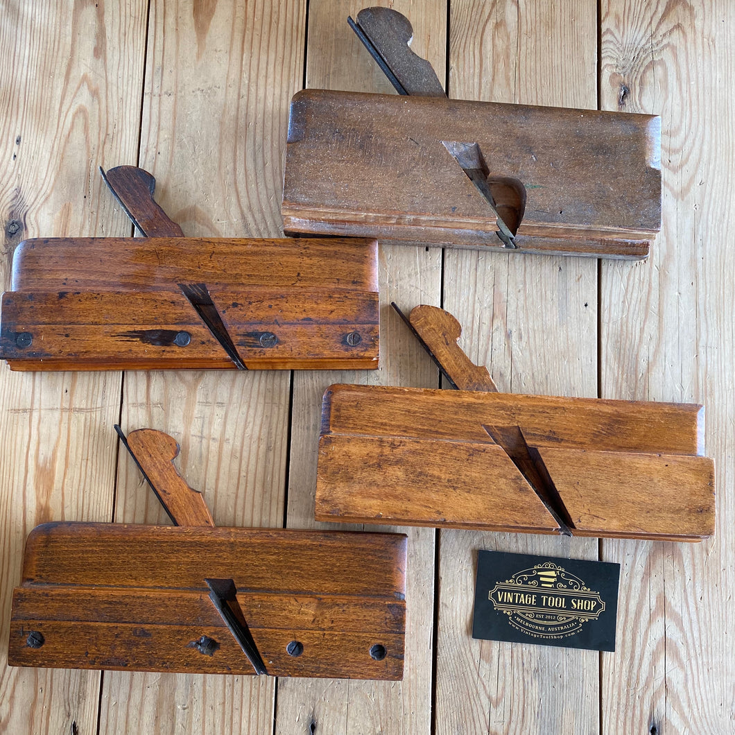 Antique SIDE BEAD Moulding Planes x 4 T1770
