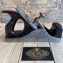 Load image into Gallery viewer, Antique SLATER England HANDLED INFILL smoothing plane Rosewood T3565
