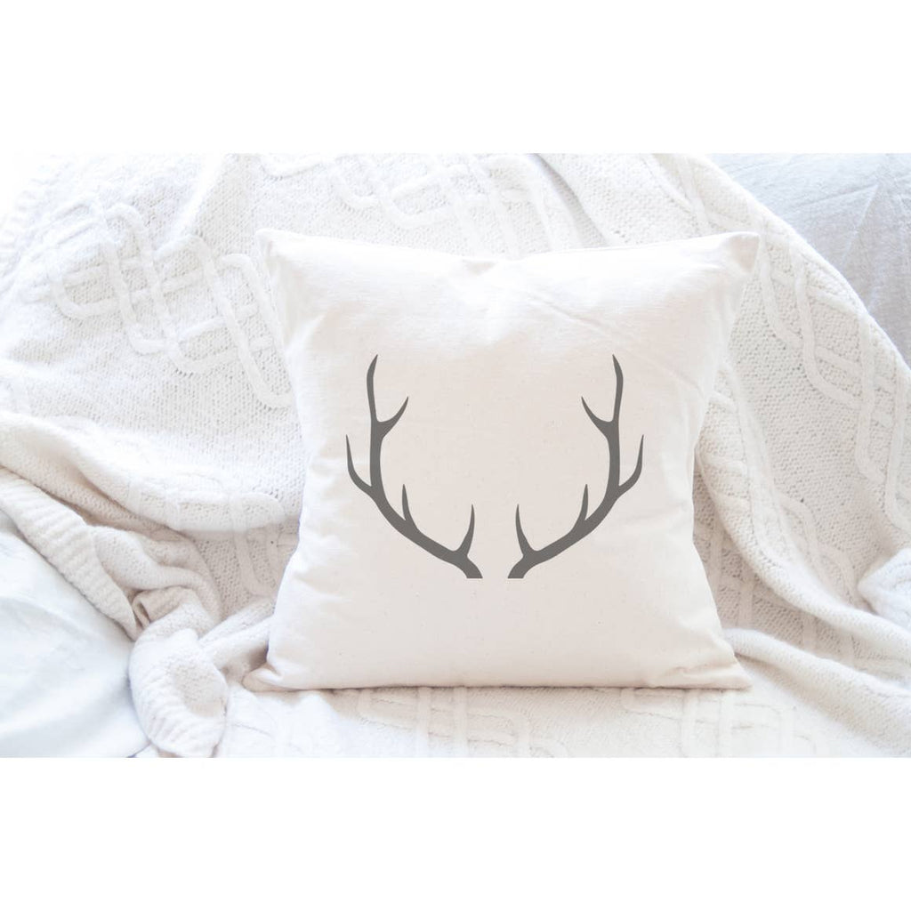 Antlers Holiday Pillow