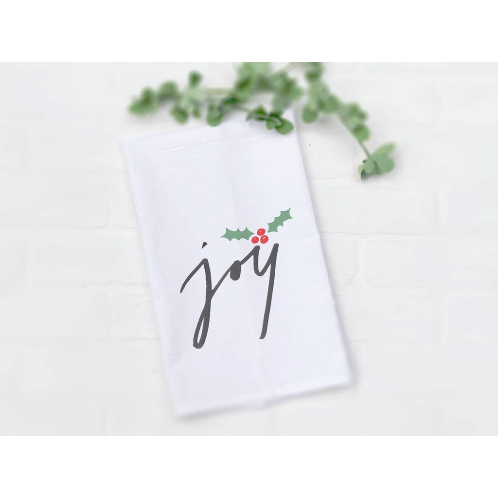 Joy Holiday Tea Towel