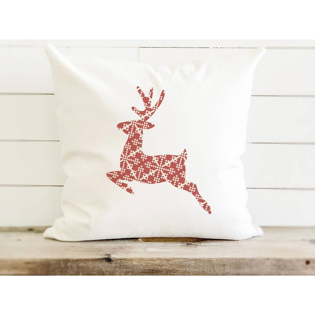 Reindeer Holiday Pillow