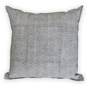 Navy Block Throw Pillow