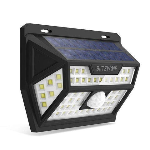 Blitzwolf® LED Solar Powered, Outdoor, Wide Angle, Motion Sensor Wall Light