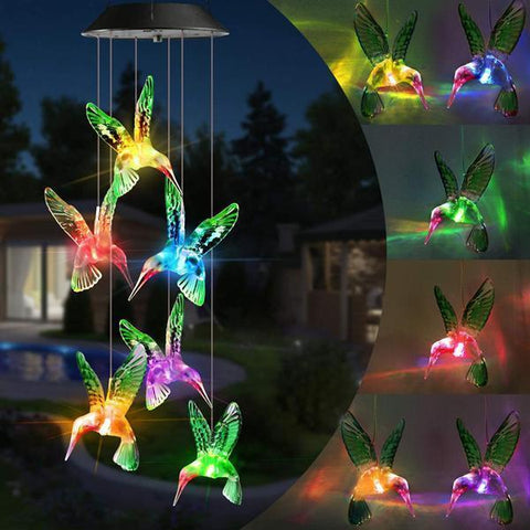 Night Bright Solar Powered Wind Chime Lights