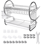 KitchenMaster™ Multifunctional 2-Tier Dish Rack & Drainer