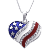 I LOVE MY COUNTRY USA NECKLACE