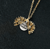 "Sunflower ""You Are My Sunshine"" Necklace"