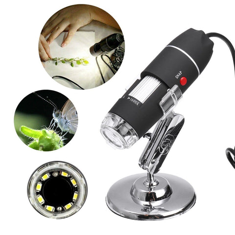 3 In 1 Digital Microscope Camera With 1600X Zoom