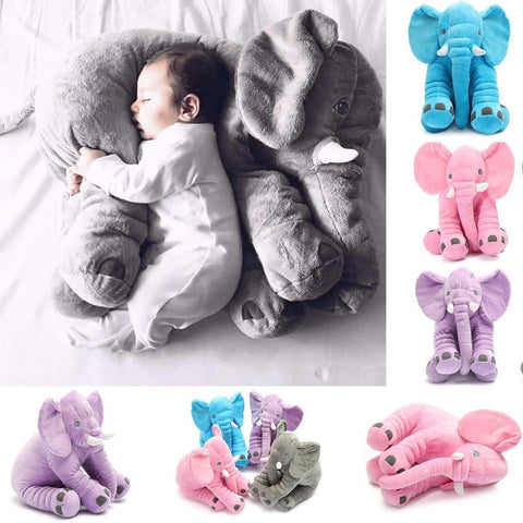 Sleepy Baby Plush Elephant Pillow
