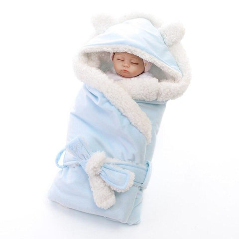 Sleepy Baby - Double Layer, Fleece Swaddle/Blanket Wrap