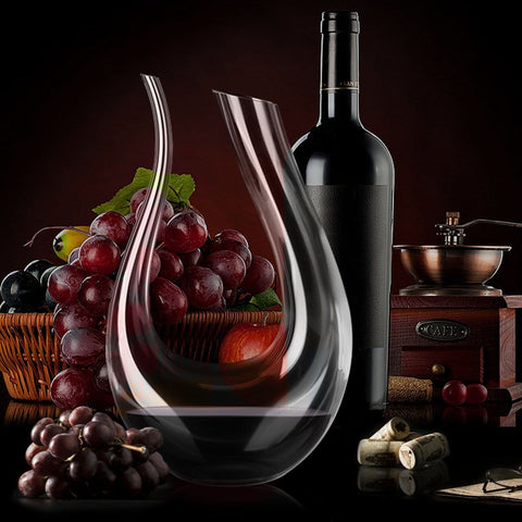 Glass Crystal Red Wine Decanter Aerator Carafe Pourer