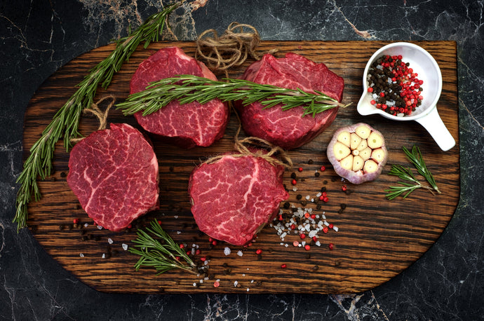 Center Cut Beef Tenderloin Filet 8 oz. Portions (10 per box)