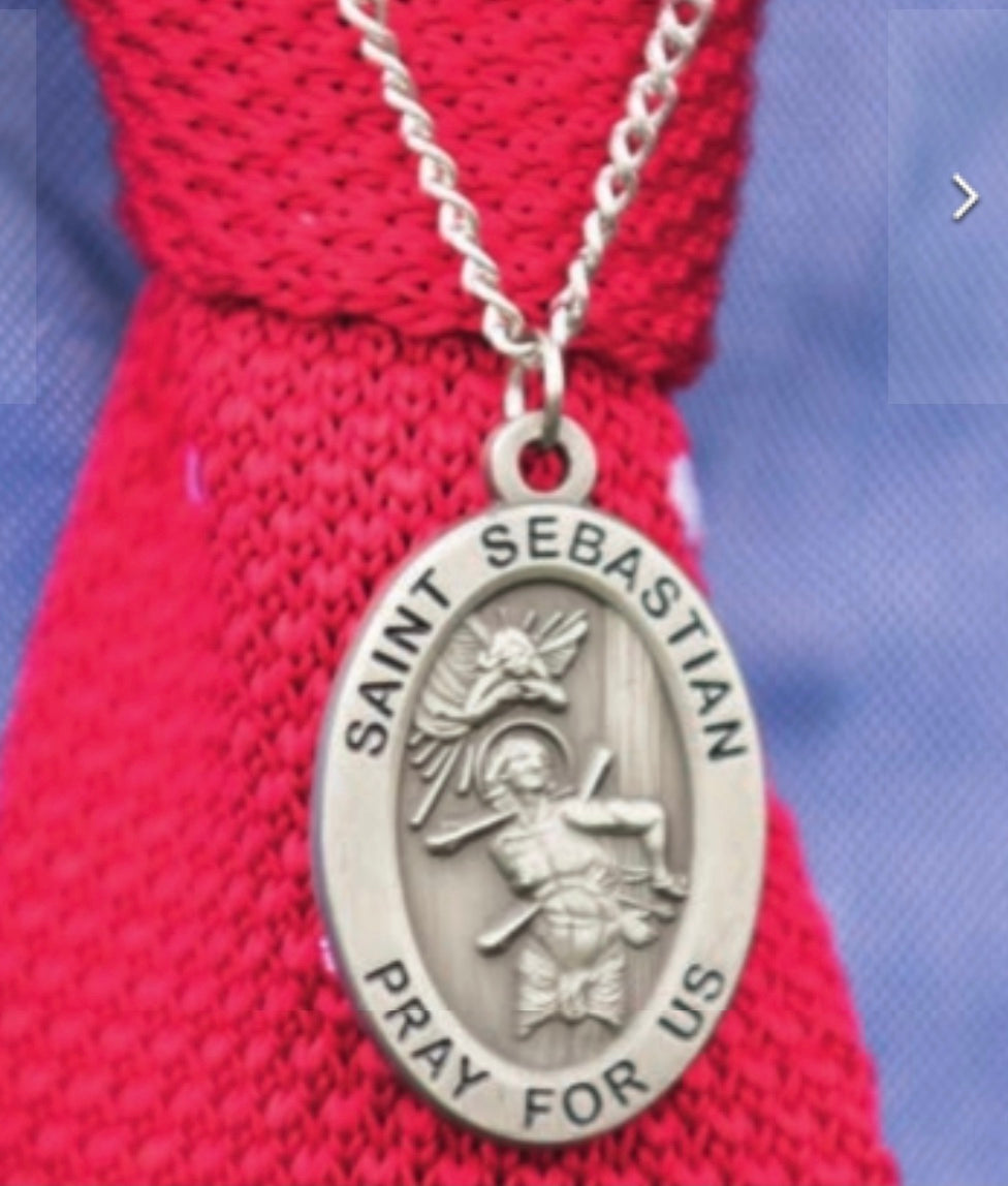 St. Sebastian's Medal with Chain