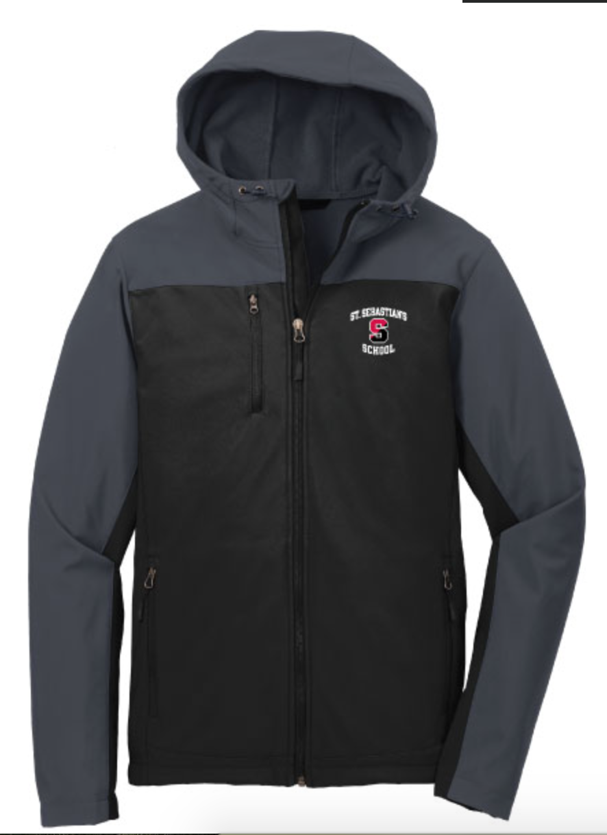 "Jacket - Soft Shell with Hood - Grey ""S"" Logo"