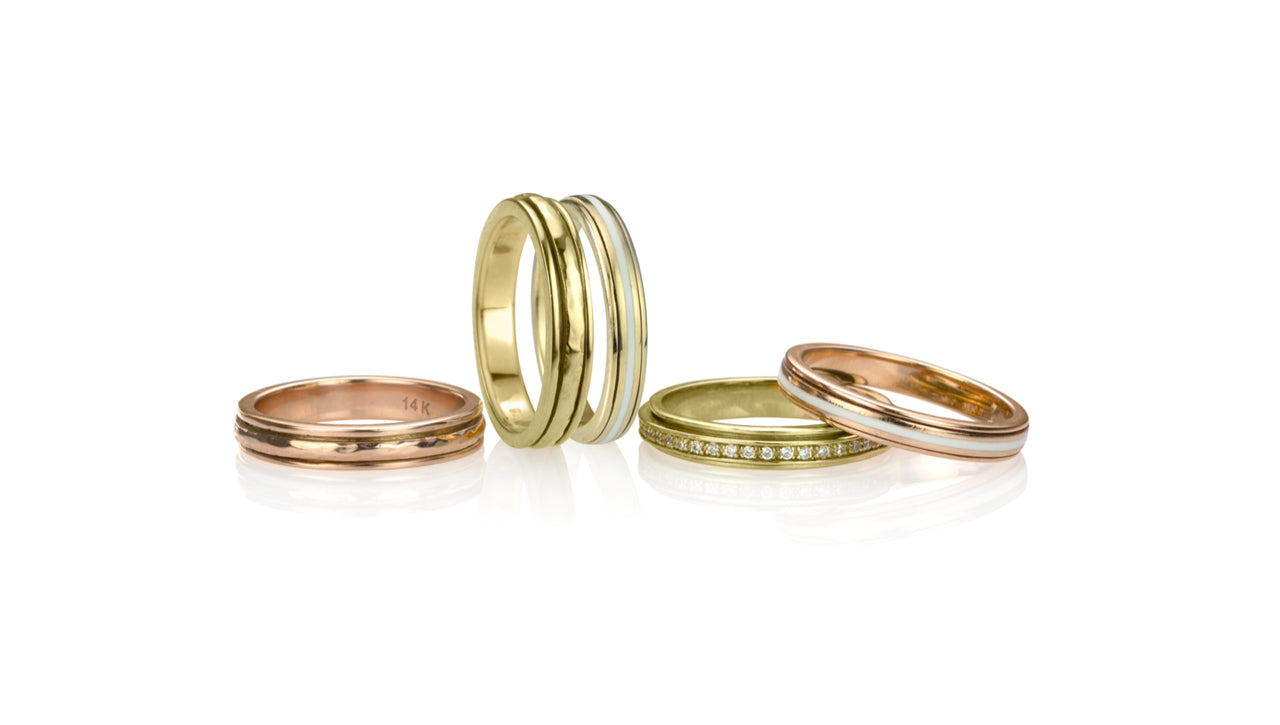 Stackable 14KT Gold Vermeil Collection