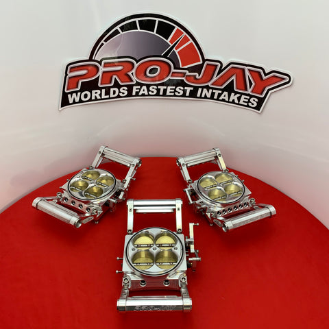 Pro-Jay Low Profile 4 Barrel Throttle Bodies