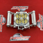 Pro-Jay 12 Injector Low Profile 4 Barrel Throttle Body 1360 CFM