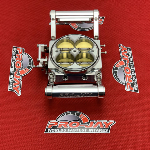 Pro-Jay 4 Injector Low Profile 4 Barrel Throttle Body 1360 CFM
