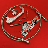 Pro-Jay 4 Barrel Throttle Cable Bracket with Universal Cable Kit