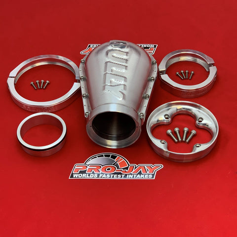 Pro-Jay Adapter / Short Bully Hat to a Low-Pro 4 Barrel Throttle Body & Hat Kit