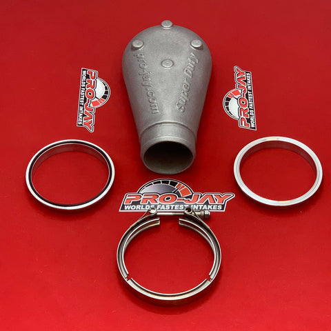 Pro-Jay Super Duty Plenum Hat and V-Band Combo Kit