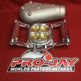 Pro-Jay 12 Injector Port Low Profile 4 Barrel Throttle Body and Plenum Hat