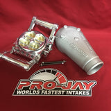 Pro-Jay 4 Injector Port Low Profile 4 Barrel Throttle Body and Plenum Hat