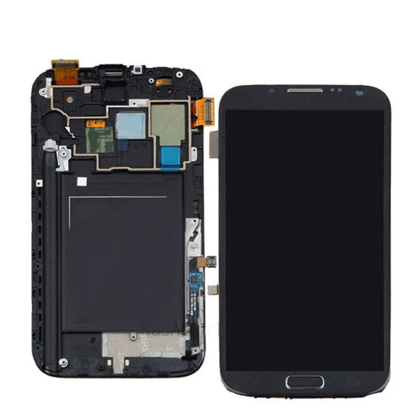 LCD NOTE 2 WITH FRAME BLACK - dfw cellphone and parts