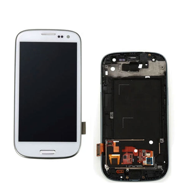 LCD S3  WTH FRAME WHTE - dfw cellphone and parts
