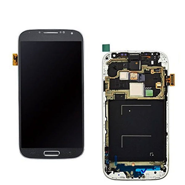 LCD S4  WTH FRAME BLACK - dfw cellphone and parts