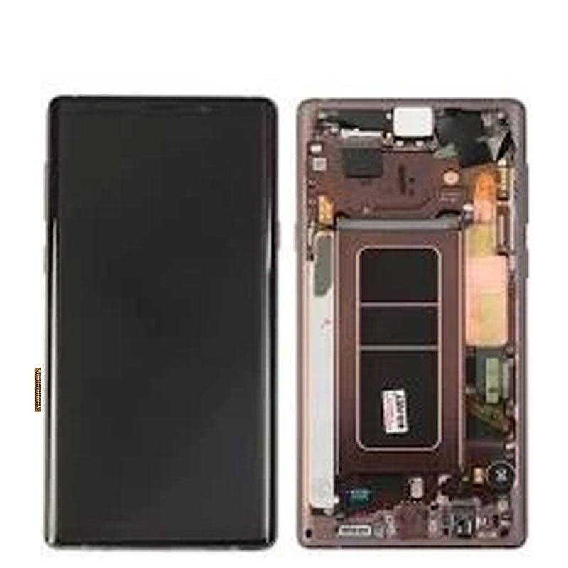 PULLED OEM LCD NOTE 9 WITH FRAME AB STOCK