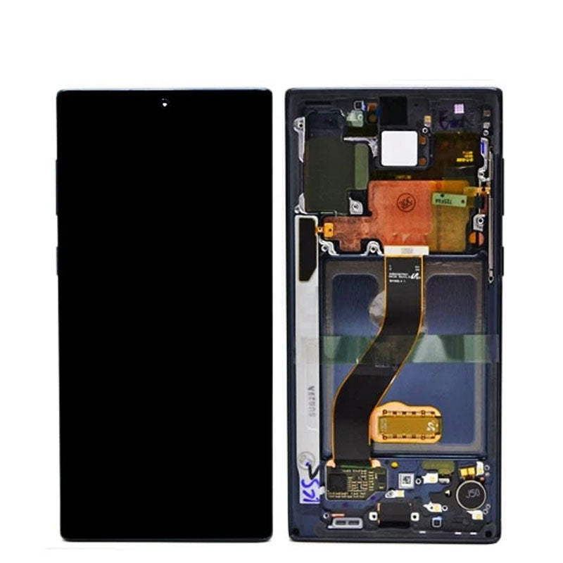 PULLED  OEM LCD NOTE 10 PLUS WITH FRAME AB STOCK
