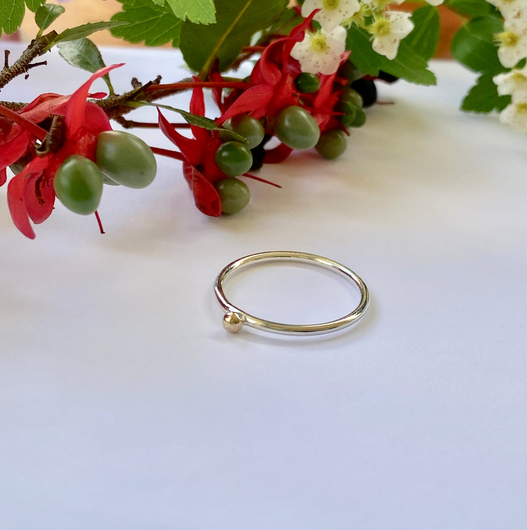 9ct Gold Dot Stacking Ring