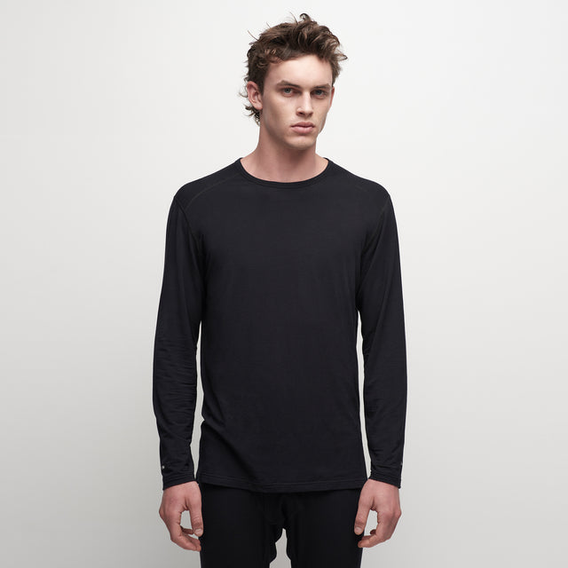 Mens Core 200 Crew - Black