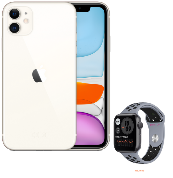 Pack Sport | iPhone 11 & Apple Watch Nike série 6 | 64 Go