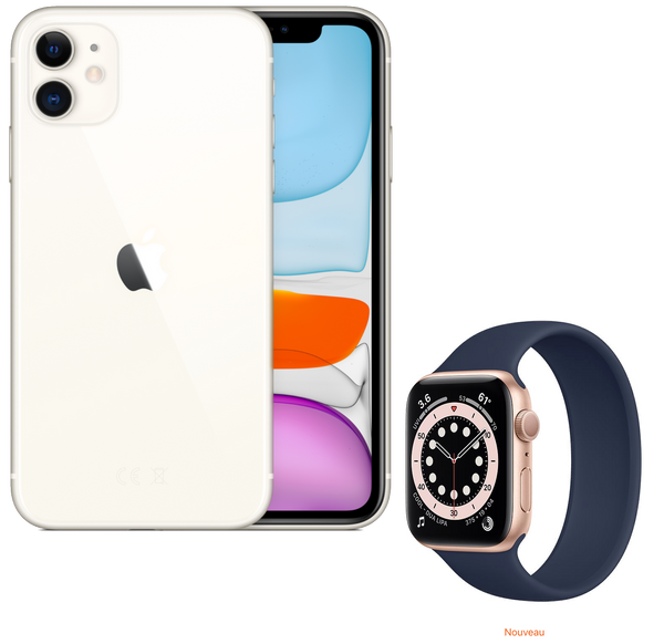 Pack Watch | iPhone 11 & Apple Watch série 6 | 64 Go