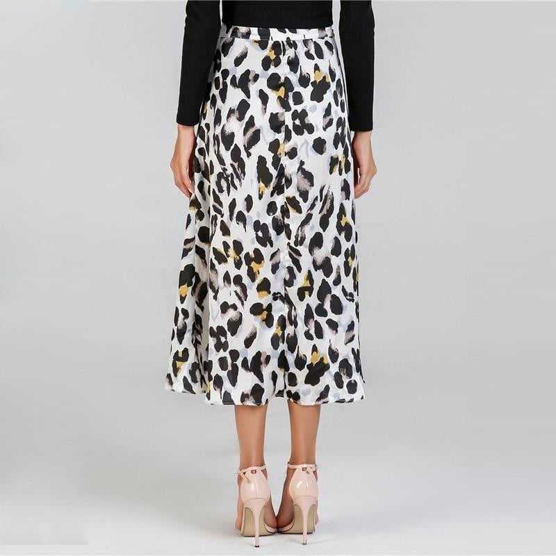 trendy-titan - Waist Knot Leopard Print Midi Skirt - Luxury and Me - Women - Apparel - Skirts - Knee Length